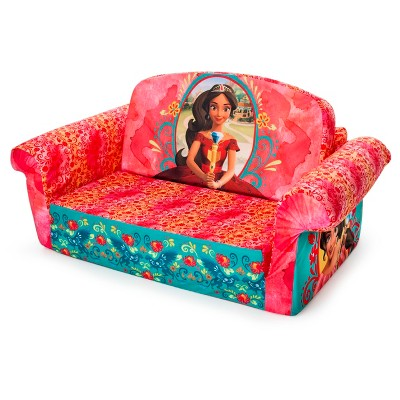 disney flip open sofa bed free removal nyc marshmallow furniture children s 2 in 1 foam elena of avalor target