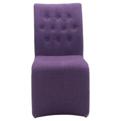 Purple Upholstered Dining Chairs Black Leather Wingback Chair Classic Cantilever Design Set Of 2 Zm Home Target