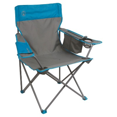 coleman cooler quad chair target white ruched covers with carrying case gray blue