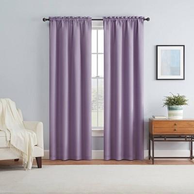 84 x42 braxton blackout window curtain panel lilac eclipse