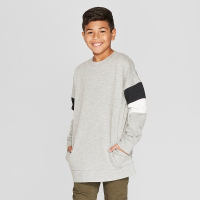 Boys' Long Sleeve Drop Shoulder Sweatshirt - art class™