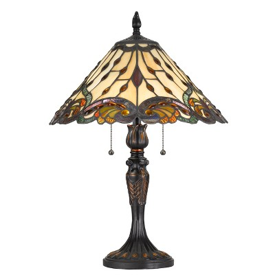 60W X 2 Tiffany Table Lamp Brown (Lamp Only) - Cal Lighting