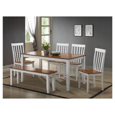 oak and white dining chairs espen scoop back chair bloomington 6 piece set honey boraam target