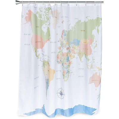 https www target com p world map shower curtain set with 12 hooks for bathroom 70 x 71 inches a 81964712