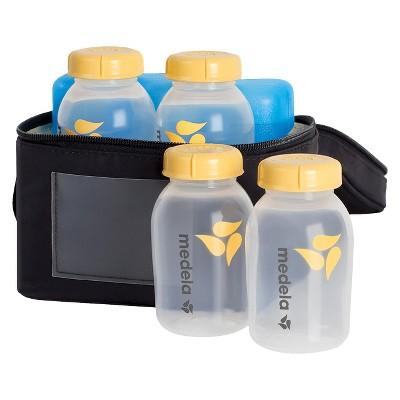 Medela Breast Milk Cooler Set with 4 Bottles & Lids, Cooler and Ice Pack