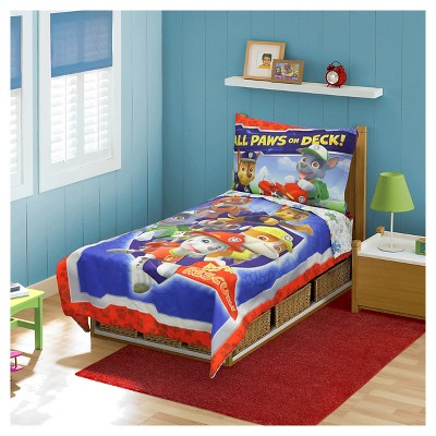 Paw Patrol 4pc Toddler All Paws on Deck! Bedding Set