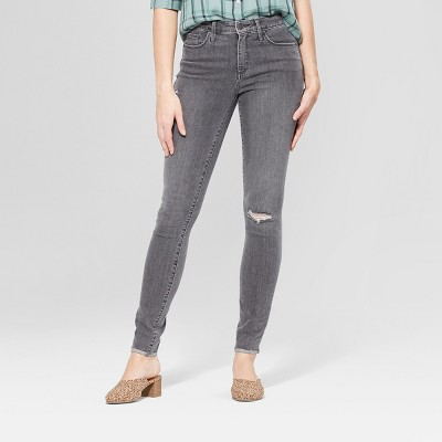 Women's High-Rise Distressed Skinny Jeans - Universal Thread™ Gray Wash