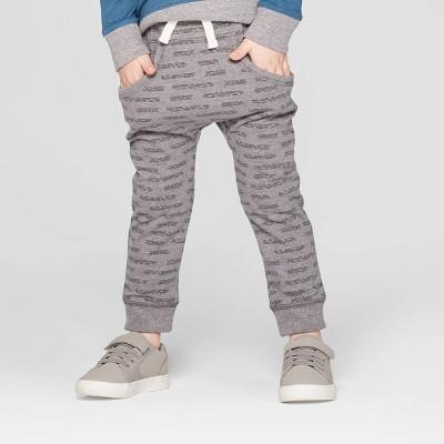 Toddler Boys' Slouchy Kanga Front Pockets Jogger Pants - Cat & Jack™ Heather Gray