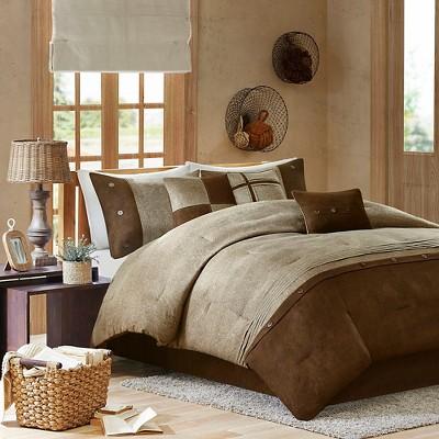 Powell Colorblock Comforter Set (Queen) Brown - 7 Piece