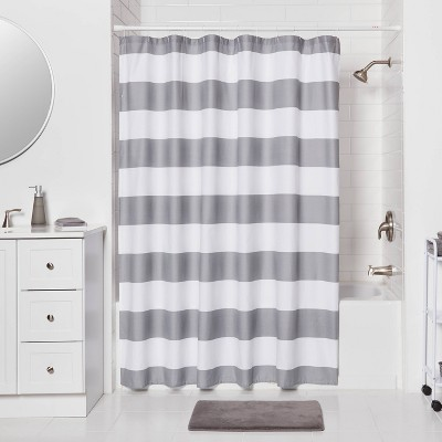 adjustable length shower curtains