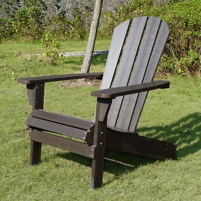 adirondack chair wood black desk faux espresso merry products target