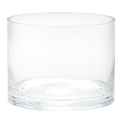 "4""x5"" Glass Cylinder Vase - Diamond Star"