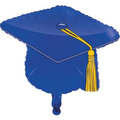 blue graduation cap mylar
