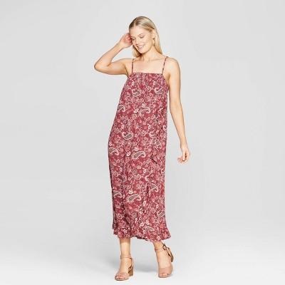 Women's Paisley Print Sleeveless Maxi Dress - Knox Rose™ Mahogany