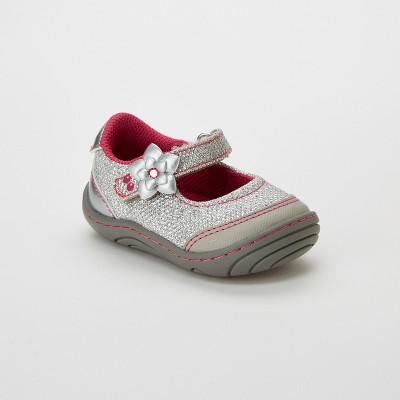 Toddler Girls' Surprize by Stride Rite Pauline Mary Jane Shoes - Silver