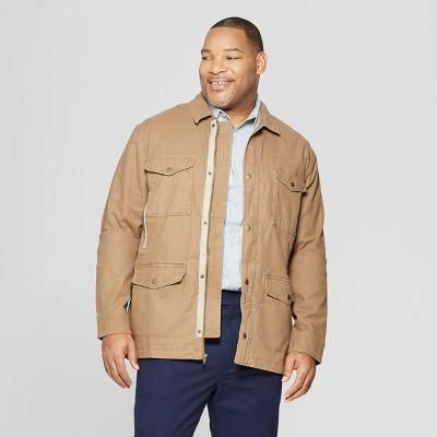 Men's Big & Tall Casual Fit Shirt Jacket - Goodfellow & Co™ Khaki