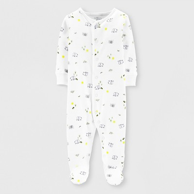 Little Planet Organic by carter's Baby Boys' Footed Sleeper - White
