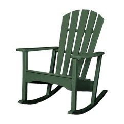 Hard Plastic Outdoor Rocking Chairs Chair For Office Staff Polywood St Croix Patio Adirondack Rocker Exclusively At Target