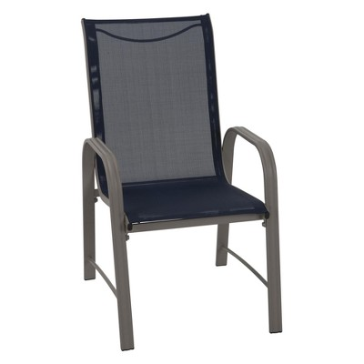 sling motion patio chairs red lounge chair paloma 6pc steel dining blue gray cosco outdoor living target