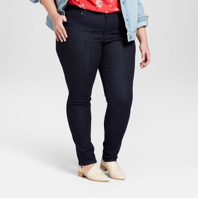 Women's Plus Size Skinny Jeans - Universal Thread™ Dark Wash