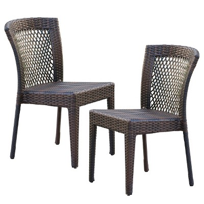 wicker patio chair set of 2 bean bag target dusk chairs multi brown christopher knight home