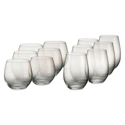 Marquis by Waterford Crystal 8oz 12pk Vintage Stemless Wine Glasses