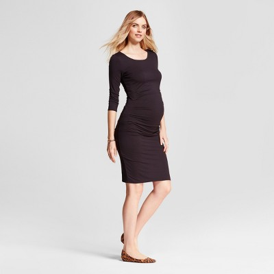 Maternity 3/4 Sleeve Pleated Dress - Isabel Maternity by Ingrid & Isabel™