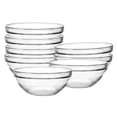 Duralex Chefs 8 pc Glass Condiment Bowl Set - Clear