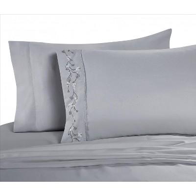 vcny home sadie sheet set blue 6 piece queen sheet set
