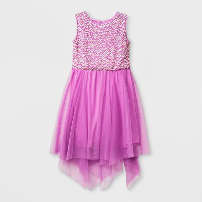 Girls' Sequin Tulle Dress - Cat & Jack™ Purple