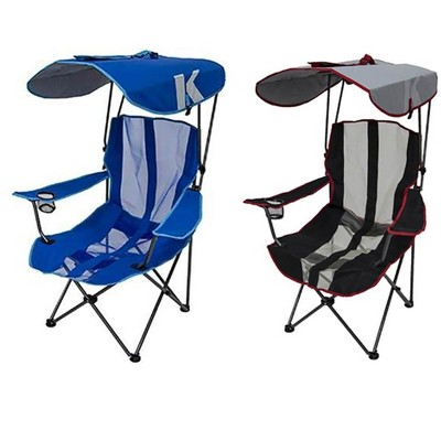 kelsyus premium portable camping folding lawn chairs with canopy blue black