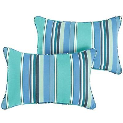 sunbrella 2pk dolce oasis lumbar outdoor throw pillows