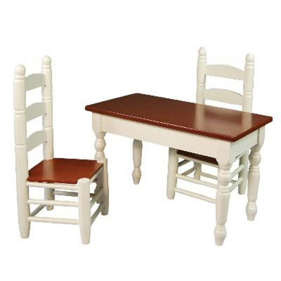 kitchen chairs at target childrens desk and chair the queen s treasures 18 inch doll furniture off white wooden farmhouse table two
