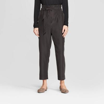 Women's Straight Leg Ankle Length Paperbag Waist Pants - Prologue™