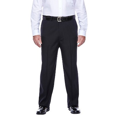Haggar H26 - Men's Big & Tall Classic Fit Performance Pants Black 54x30