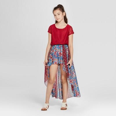 Lots of Love by Speechless Girls' Maxi Romper Dress