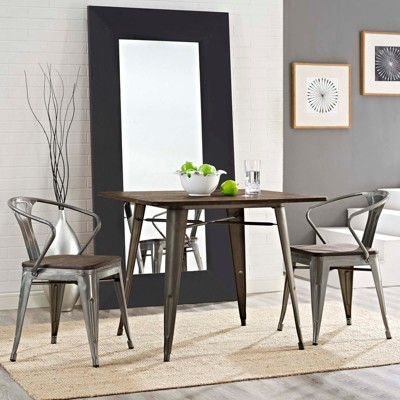 bamboo dining chair danish lounge promenade modway target