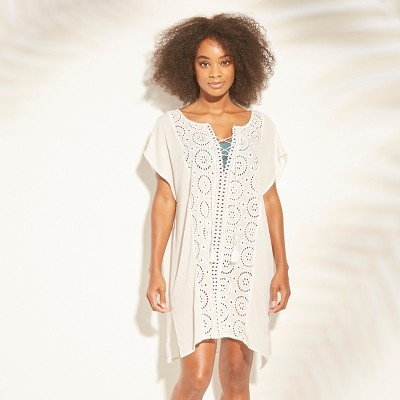Women's Lace-Up Eyelet Cover Up Dress - Kona Sol™