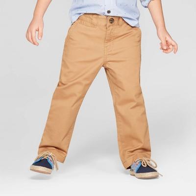 Toddler Boys' Flat Front Chino Pants - Cat & Jack™ Tan