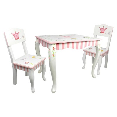 3 piece table and chair set academy sports stadium chairs fantasy fields princess frog wood multi colored teamson target