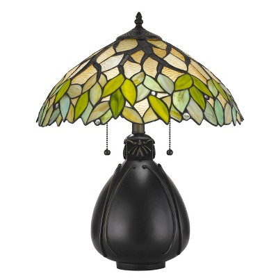 60W X 2 Tiffany Table Lamp Green (Lamp Only) - Cal Lighting
