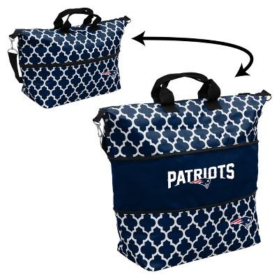 NFL Logo Brands Quatrefoil Expandable Cooler Tote