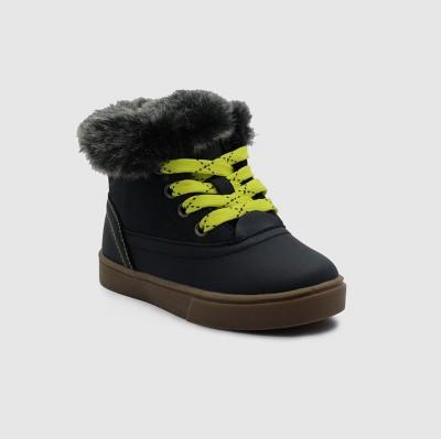 Toddler Boys' Kelvin Casual Faux Fur Collar Sneakers - Cat & Jack™ Navy