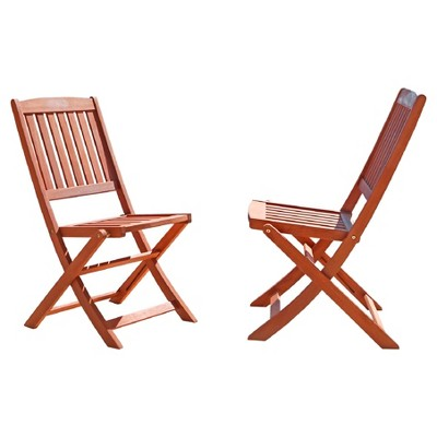 bistro chairs outdoor rubber chair feet bunnings vifah set of 2 eucalyptus wood folding brown about this item