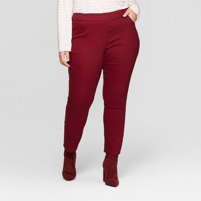 Women's Plus Size Pull On Skinny Chino Pants - Ava & Viv™