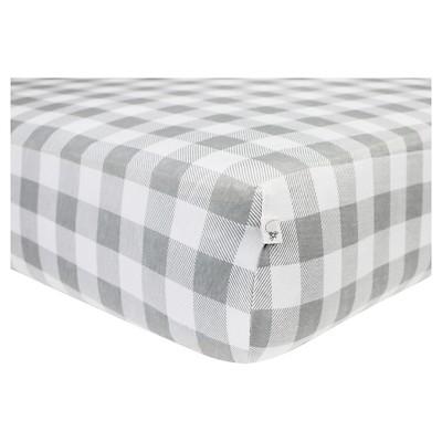 Burt's Bees Baby® Organic Fitted Crib Sheet - Buffalo Check