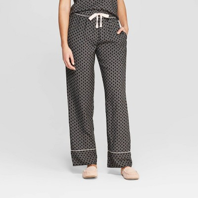 Women's Geo Print Simply Cool Pajama Pants - Stars Above™ Black