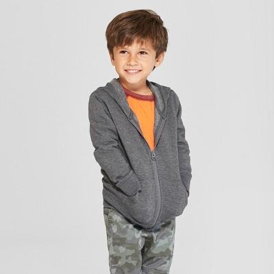 Toddler Boys' Fleece Zip-Up Hoodie - Cat & Jack™ Charcoal