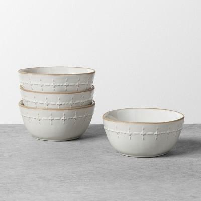 Textured Stitch Mini Bowl Sour Cream - Hearth & Hand™ with Magnolia