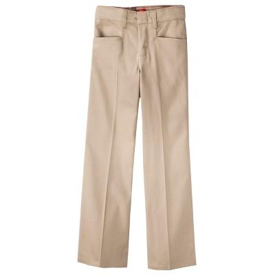 Dickies Girls' Classic Fit Stretch Boot Cut Uniform Chino Pants